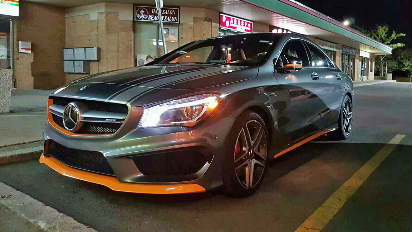 Mercedes CLA 45 AMG Orange Accents