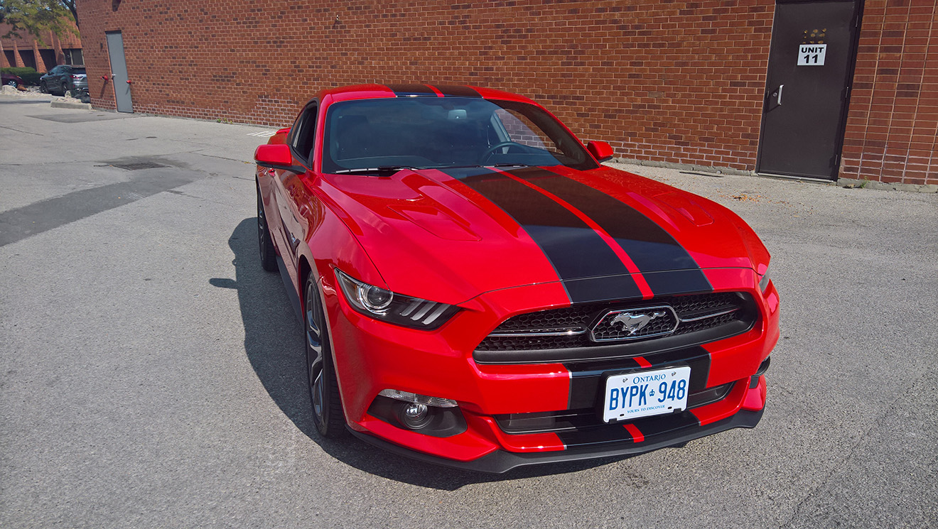 Mustang GT Black Stripes