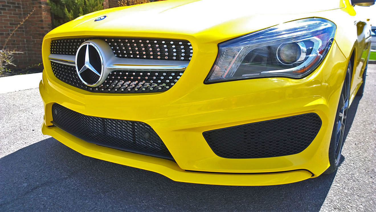 Mercedes CLA Bright Yellow